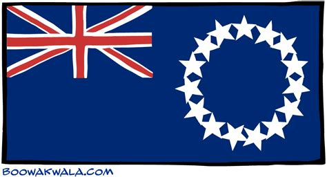 cook island flag template cook islands map free colouring pages