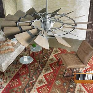 Quot rustic windmill ceiling fan shades of light