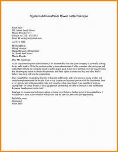 linux system administration cover letter With adminstration cover letter