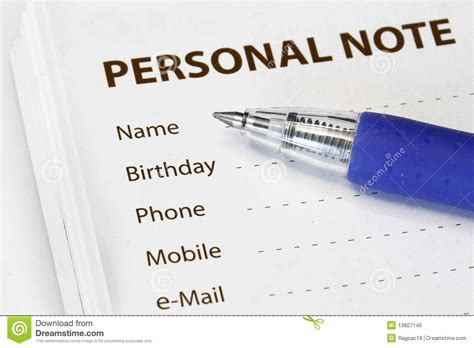 Personal Information Royalty Free Stock Image
