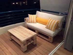 Couch Aus Paletten : kleine terrasse mit diy sofa aus paletten einrichten freshouse ~ Whattoseeinmadrid.com Haus und Dekorationen