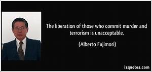 The liberation of those who commit murder and terrorism is ...