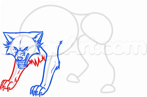 How To Draw A White Wolf, Step By Step, Anime Animals