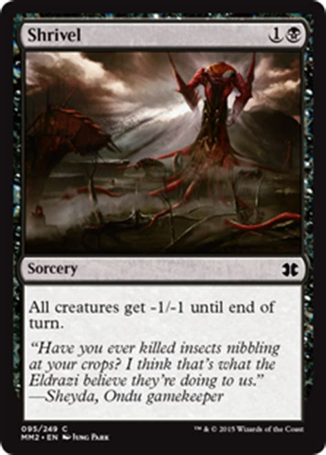 Mtg Insect Deck 2015 by Shrivel Modern Masters 2015 Edition Gatherer Magic