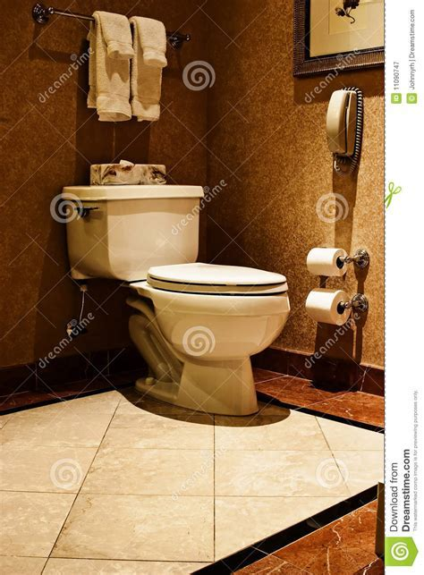 Luxury Toilet stock image. Image of marble, hygiene, paper