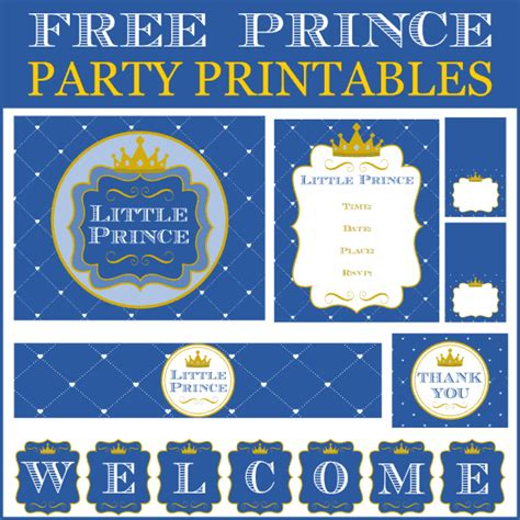 charming  prince party printables