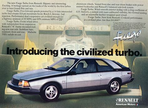 1982 renault fuego cohort classic renault fuego invites you to enter the