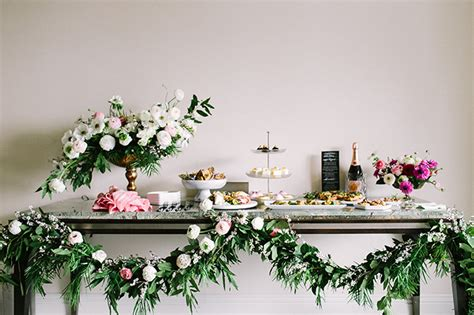 Elegant Cocktail Engagement Party With 100 Layer Cake