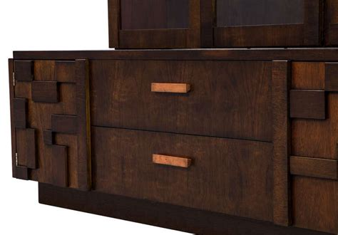 canadian kitchen cabinets brutalist mosaic walnut cabinet for at 1stdibs 1979