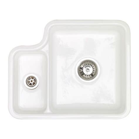 kitchen sinks 1 5 bowl astracast lincoln 1 5 bowl undermount ceramic kitchen sink 6053