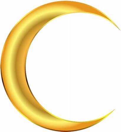 Moon Half Transparent Yellow Clipart Evening Pinclipart