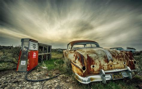 Wreck, Car, Vehicle, Hdr Wallpapers Hd / Desktop And