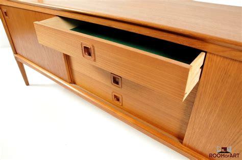 Low Wooden Sideboard by Low Teak Wooden Sideboard By H W Klein Room Of