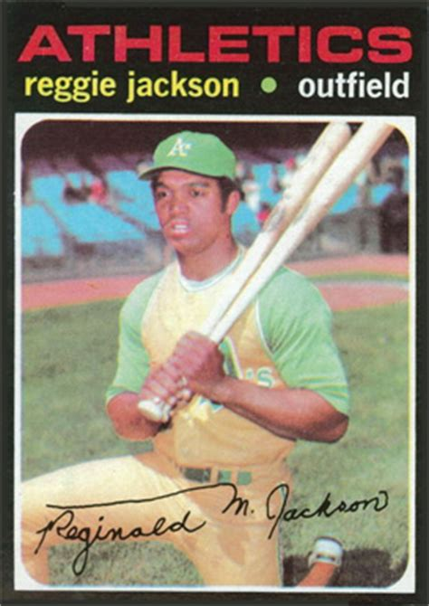 The reason that the book value of some cards is so high is that so few vintage cards remain in pristine condition. 1971 Topps Reggie Jackson #20 Baseball - VCP Price Guide