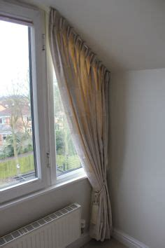 bedroom curtains a customers sloping window