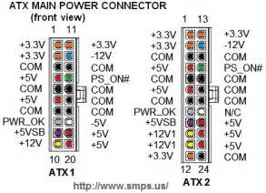 12v Bench Power Supply by Power Supply Pinouts Atx Dell Power Mac