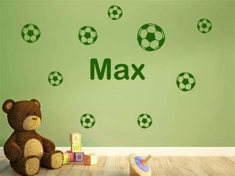 Wandtattoo Kinderzimmer Fussball by Wandtattoo Fu 223 B 228 Lle Mit Name Wandtattoo Fu 223