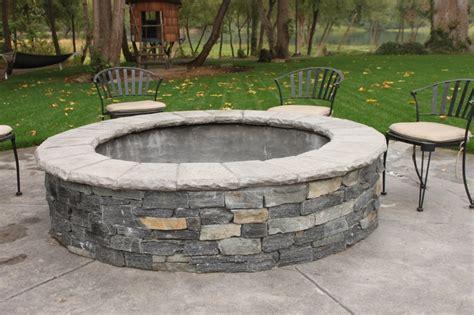 insider concrete patio with pit garden landscape