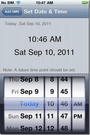 how to set time on iphone future sms lets you schedule sms on your iphone cydia app