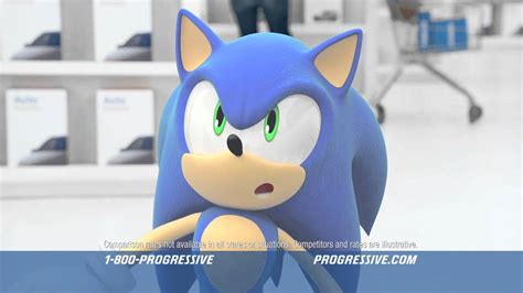 progressive ad featuring sonic  hedgehog youtube