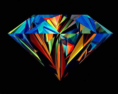 Abstract Colorful Diamond Wallpaper Hd Wallpapers Source