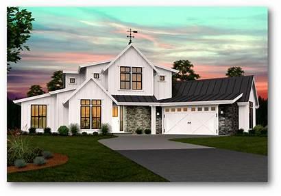 Farmhouse Modern Plans Story Plan Garage Floor