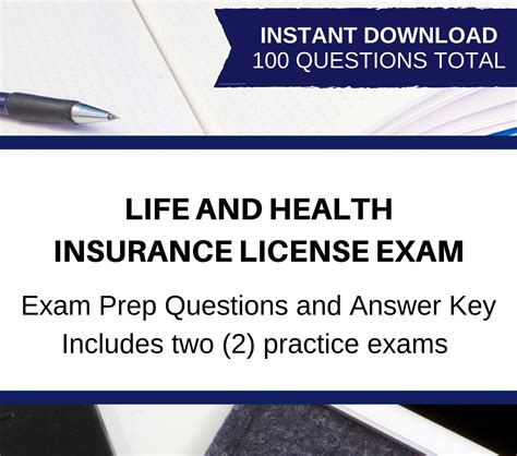 Life, health and property/casualty at no cost to the candidate. PRINTABLE Life and Health Insurance License Exam Bundle ...