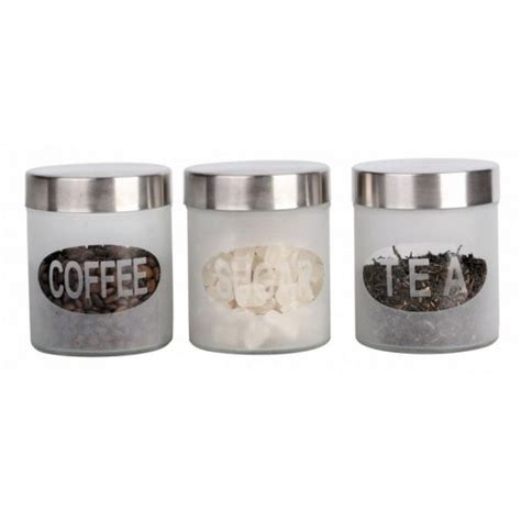canister set frosted design  piece global houseware
