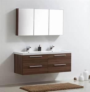 meuble de salle de bainnoix armoire de toilette 3 With meuble salle de bain vitrée