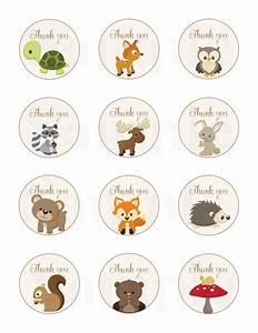 Woodland Friends Forest Animals Theme Baby Shower Thank ...