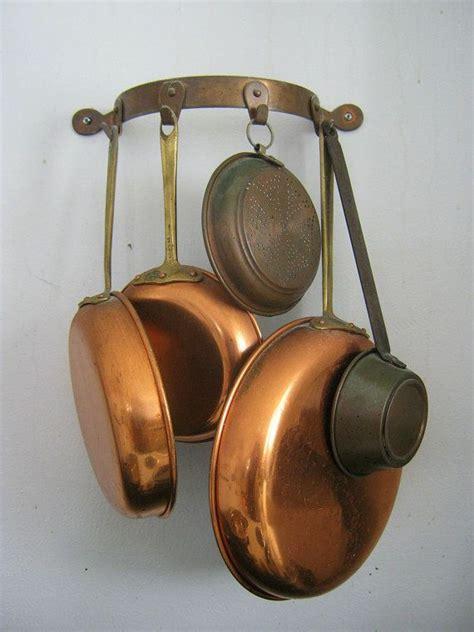 vintage copper pot rack  moon wall  lavendergardencottag  copper pots kitchen