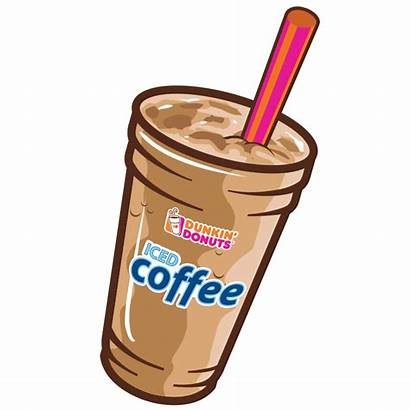 Dunkin Donuts Coffee Iced Clipart Transparent Animated
