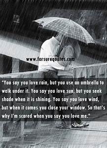 Basic Quotes I Am Scared When You Say Me You Love Me Collection Of