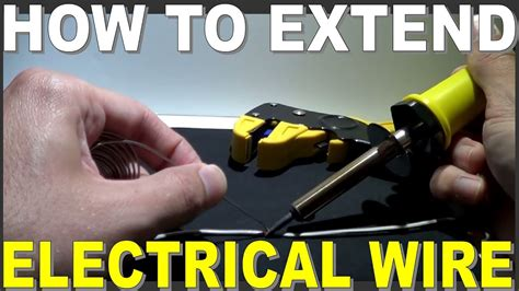 how to extend electrical wiring then joining it youtube