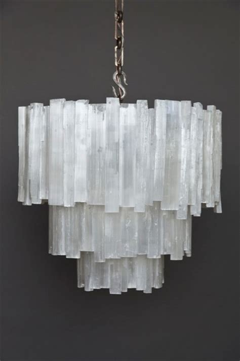 Three Tier Selenite Chandelier contemporary chandeliers