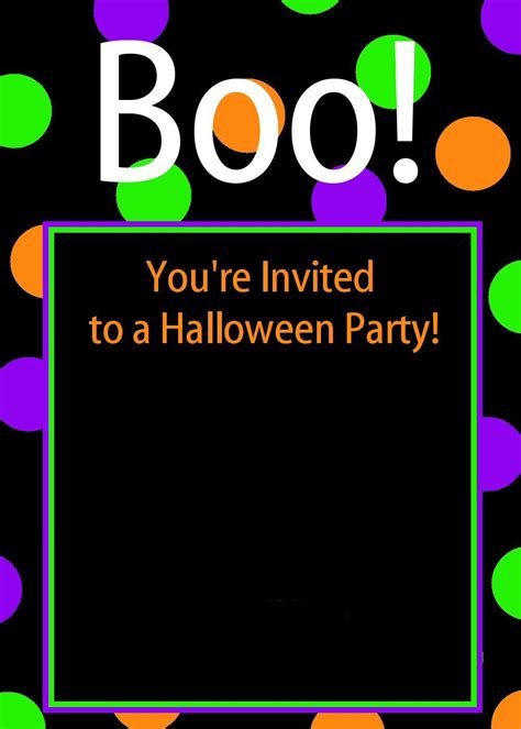 Cute Free Printable Halloween Invitations Halloween