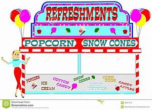 Carnival Clipart Food Booth Pencil And In Color Carnival