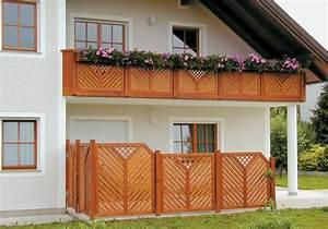 Sichtschutz Für Balkongeländer : terrassengel nder balkongel nder balkongel nder aus l rchenholz ~ Markanthonyermac.com Haus und Dekorationen