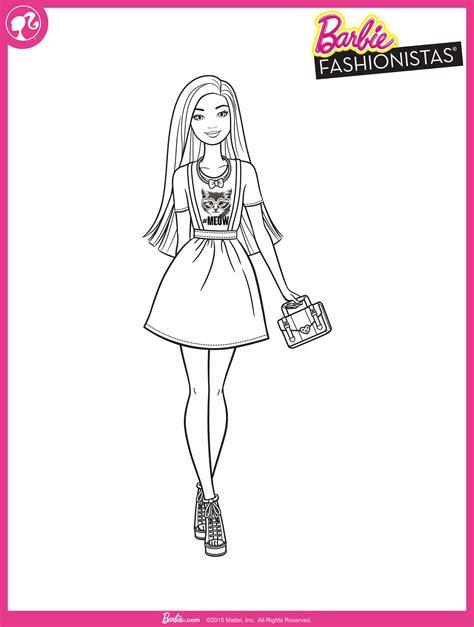 barbie fashionistas desenhos  colorir