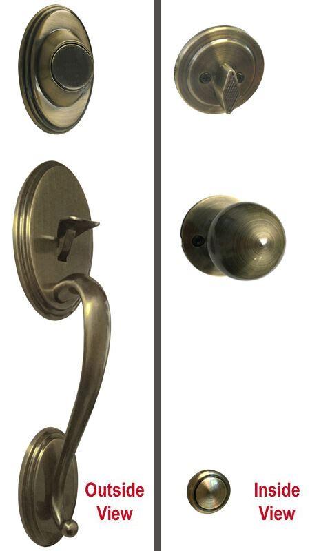 antique brass dummy handleset  front door handle knob knobs lock locks  ebay