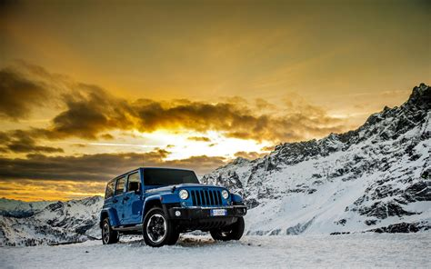 jeep wrangler polar machine car vehicles mountain snow hd