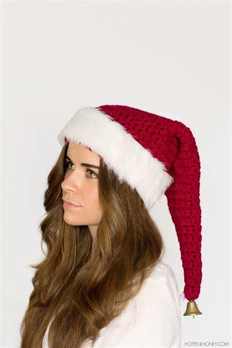 big santa hat santa claus crochet hat pattern favecrafts