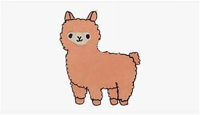 Alpaca Cartoon Clipart Clipartkey Transparent