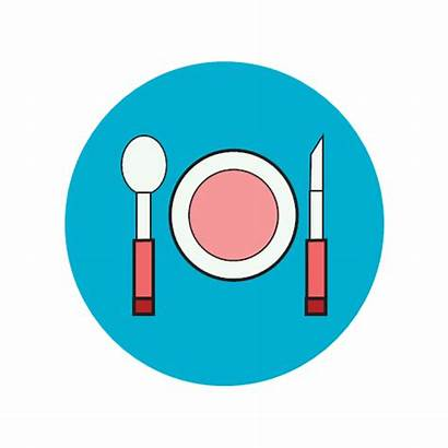 Icon Eat Eating Dinner Restaurant Kitchen Cooking