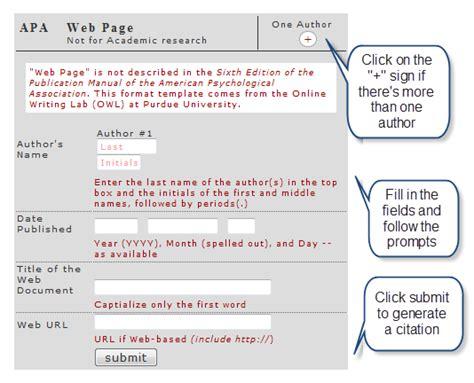 APA in Text Citation Machine