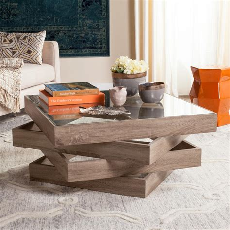 light wood coffee table safavieh anwen mid century geometric wood light gray