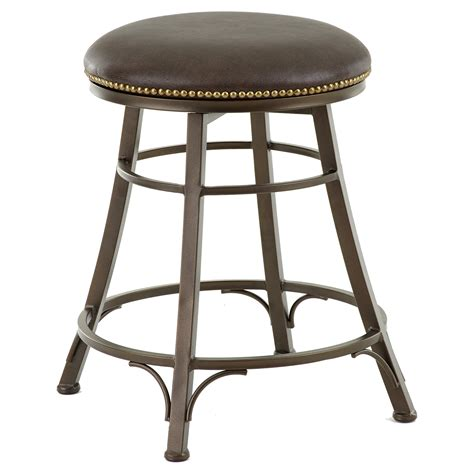 24 bar stools backless steve silver bali 24 in backless swivel counter stool 3835