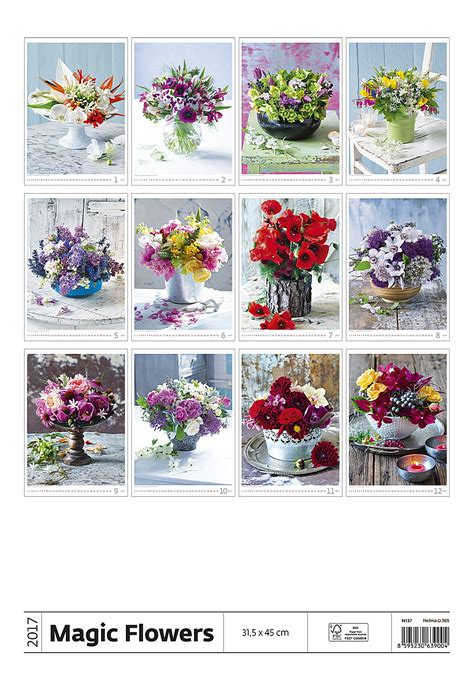 magic flowers calendar flower calendar