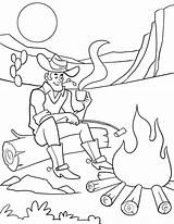 Cowboy Coloring Pages Printable Western Horse Cowgirl Getcoloringpages sketch template