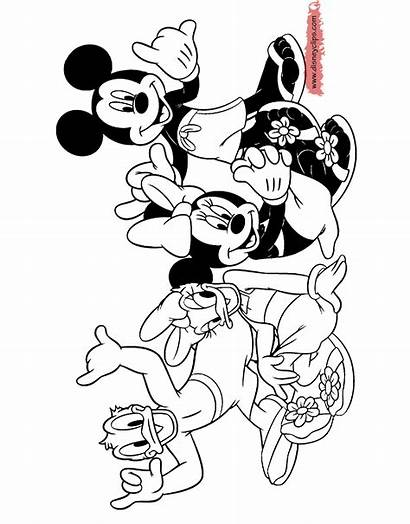 Mickey Friends Disneyclips Coloring Mouse Minnie Pages